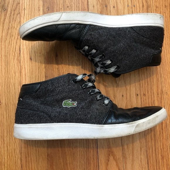 6a5fc95547 Lacoste Chukka Ankle Boots Mens Gray Black